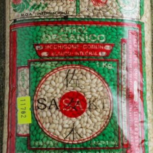Arroz Mochigone Integral. Sasaki Orgánico Certificado.