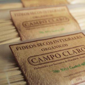 Fideos de trigo candeal cinta-tallarines Campo Claro orgánico certificado