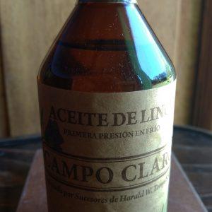 Aceite de Lino. Campo Claro Orgánico Certificado.