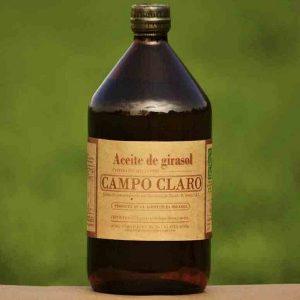 Aceite de Girasol. Campo Claro Orgánico Certificado.